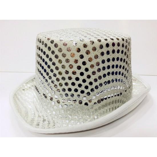 Pullu Beyaz Melon Fantazi Şapka